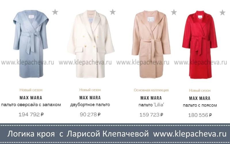 стоимость пальто Max Mara