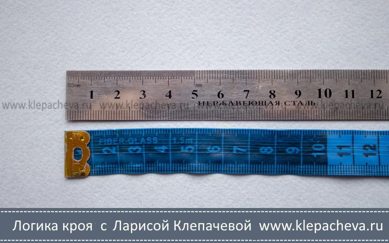 Как смотреть значения на портновском сантиметре