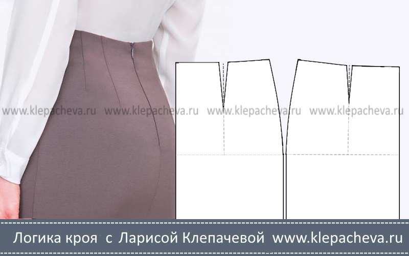 Какой длины должны быть вытачки на юбке