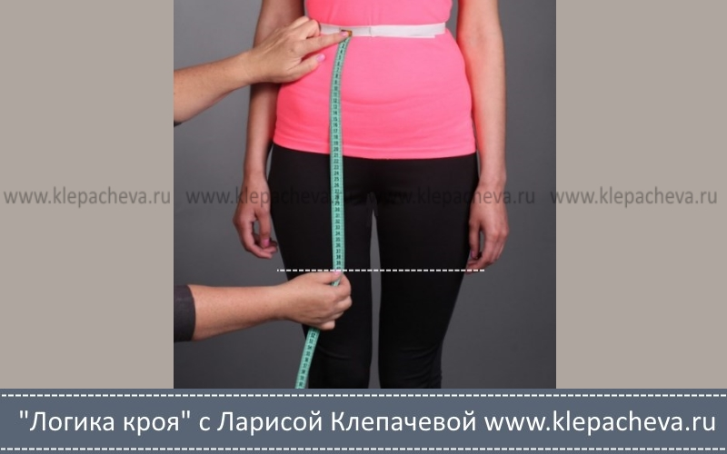 как измерить длину юбки спереди