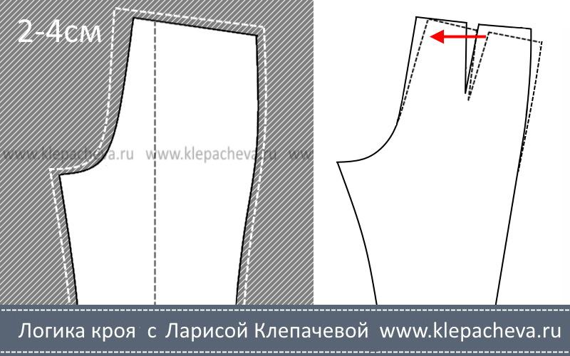 припуск среднего шва брюк