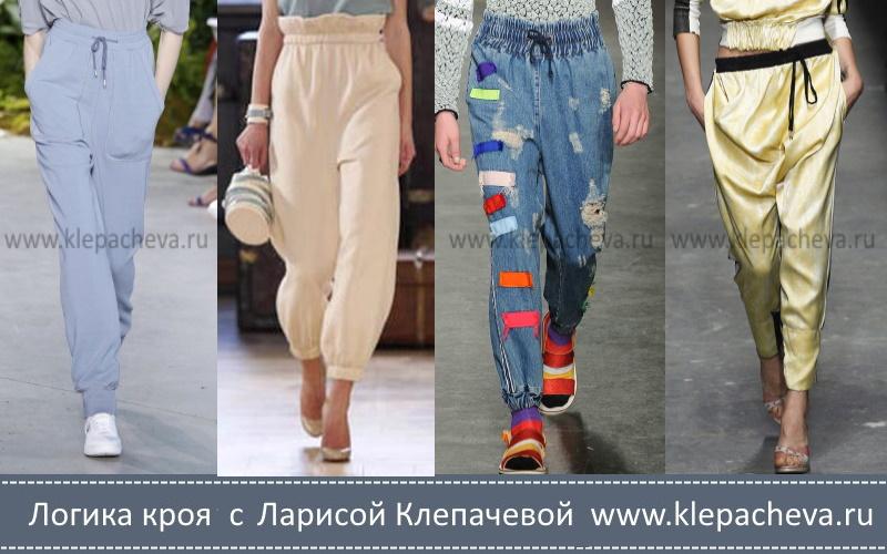 брюки с поясом на резинке