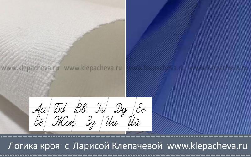 наклон диагональных полосок на ткани