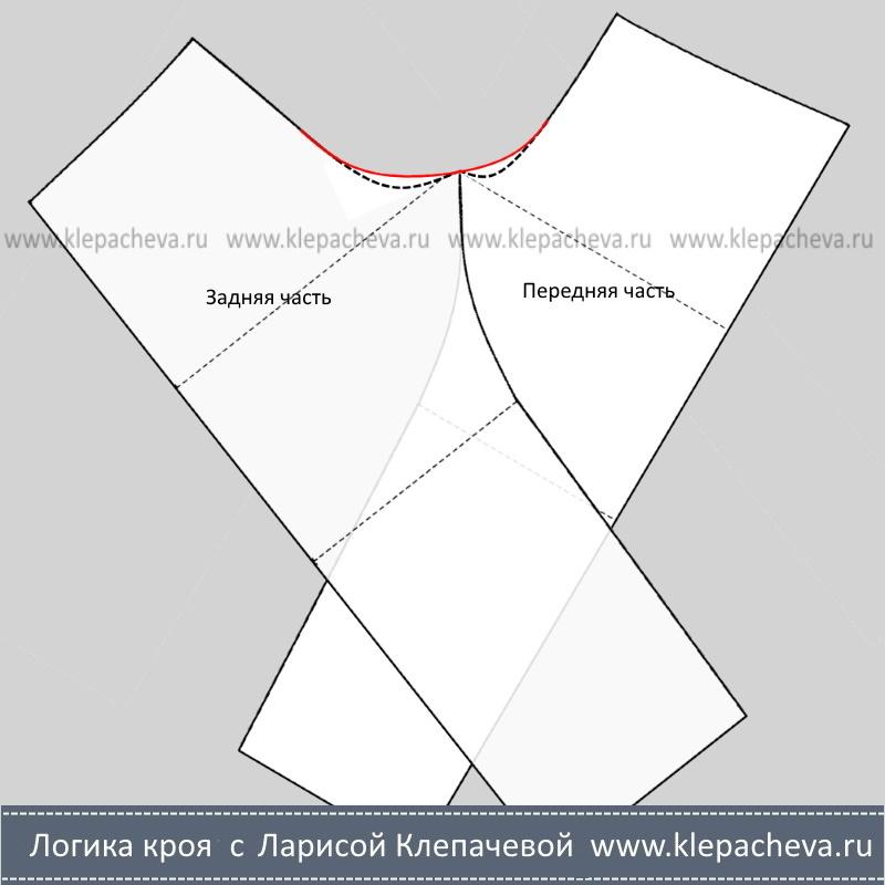 Уточнить линию среднего среза брюк