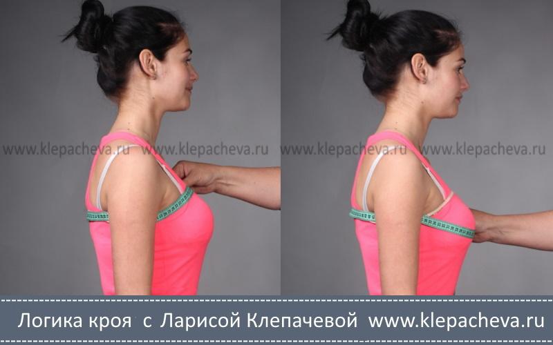 как снимать мерку Обхват груди
